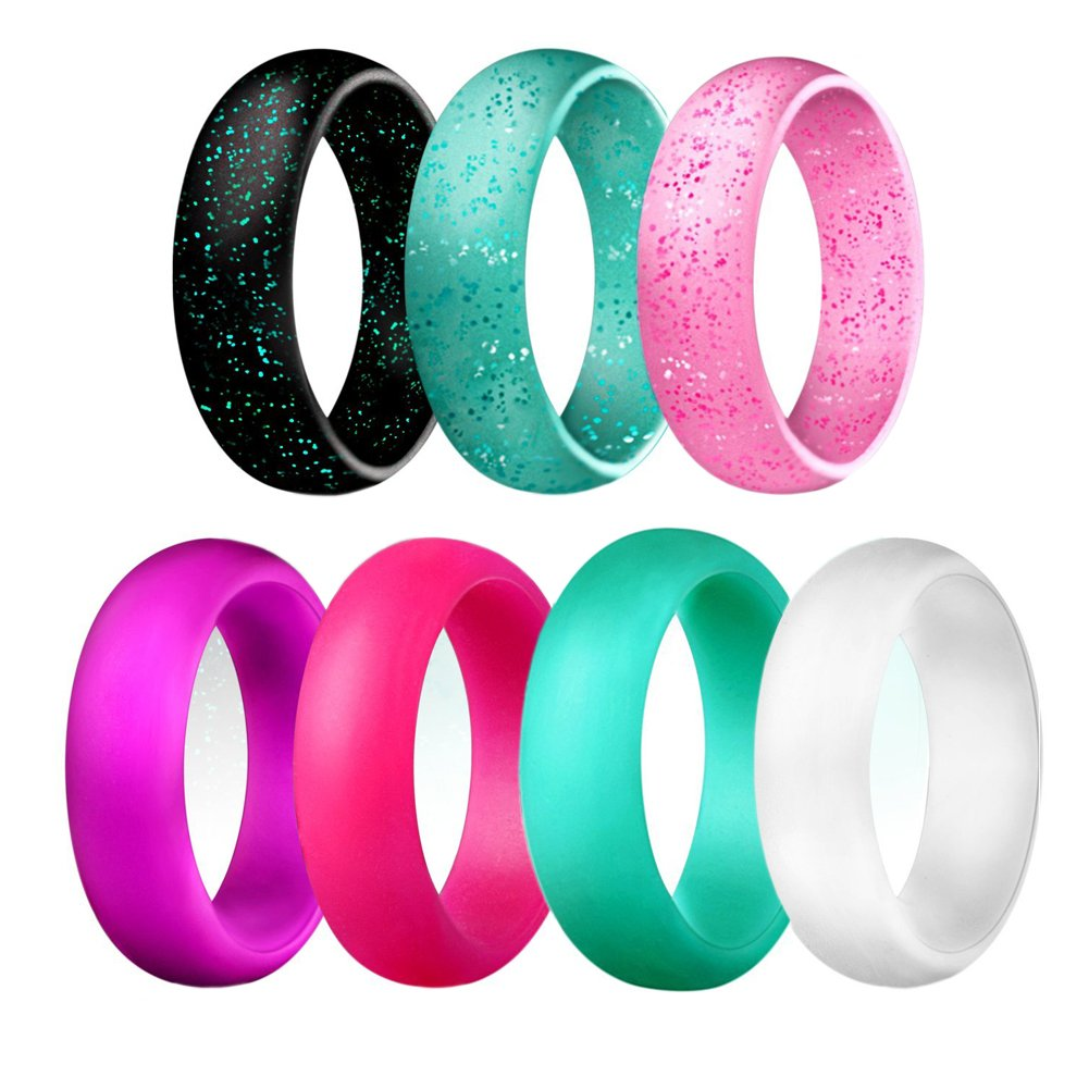 Antemart Silicone Wedding Ring, Silicone Wedding Band for Women ...