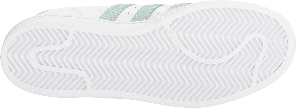 Women's Superstar Shoes Running, Whiteash GreenSilver Metallic, 10.5 M US