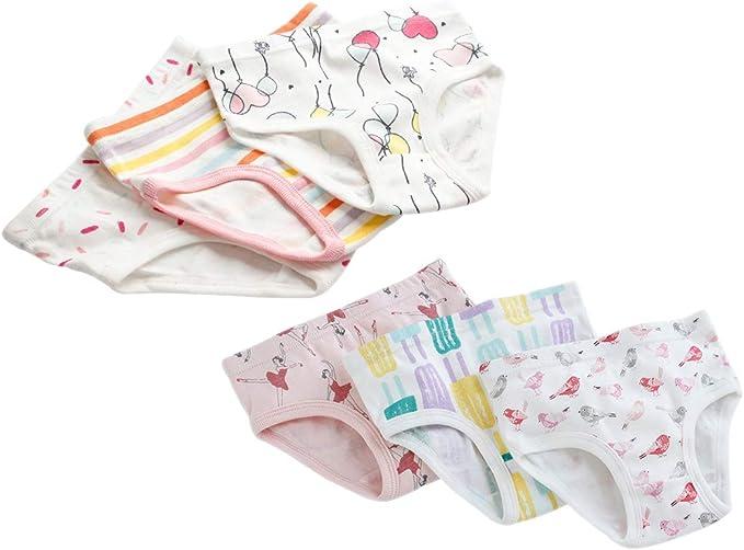 LONMEI 6 Pack Bragas para Bebés Niñas - 100% Algodón Cómodo y ...