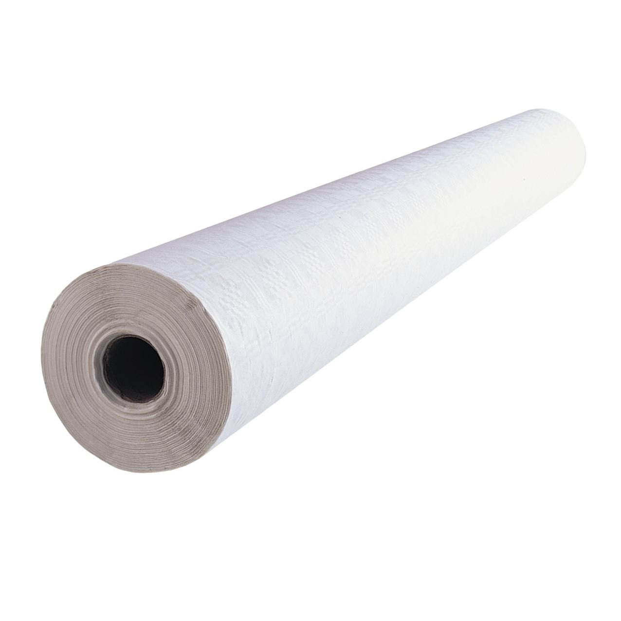 1 x Simpa® White Banqueting Roll 100M (L) x 1.16M (W) Domestic & Commercial Party Catering Event Supplies High Quality Disposable Paper Table Covering with embossed damask design.
