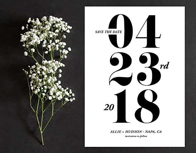 amazon com modern save the date numerals save the date classic