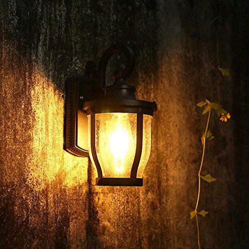 Modern LED Wandleuchte 5WLED aluminium wandleuchte wasserdicht im freien retro gartenhof wandleuchte schwarz warmes licht 32X21X10,5 CM Coffee Shop Vintage Retro Café Loft Bar Flurlampe, Wandlampe.