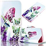 Samsung Galaxy S7 Edge Case, Bonice Magnetic Snap Flip Standing Wallet Case Ultra Slim Antiscratch Shockproof Protective Cover-Pattern 12
