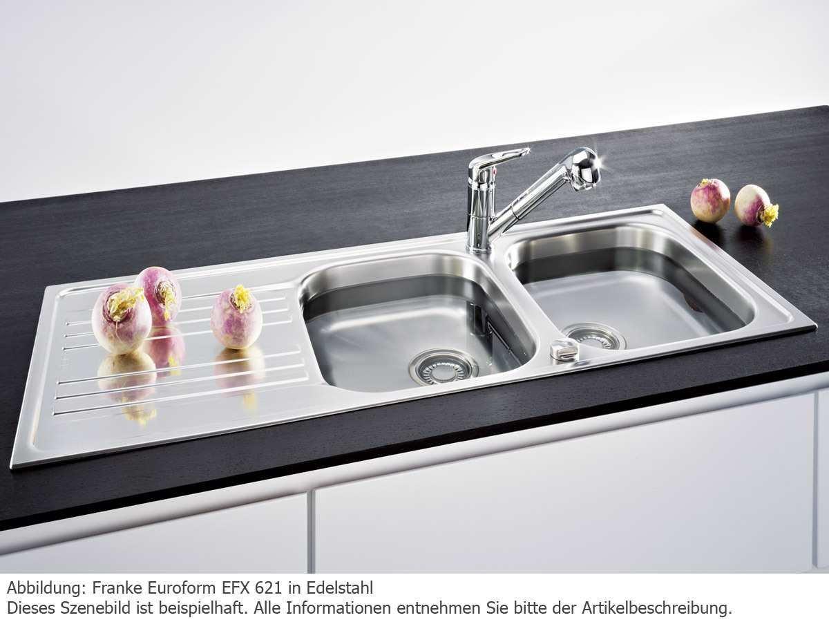 Franke Euroform EFX 621 Edelstahl Doppelbecken Küchenspüle Spültisch ...