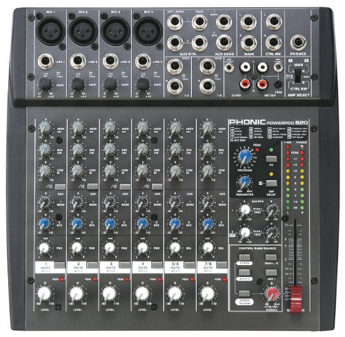 - Phonic Powerpod 820 200W 8-Channel Powered Mixer with DFX