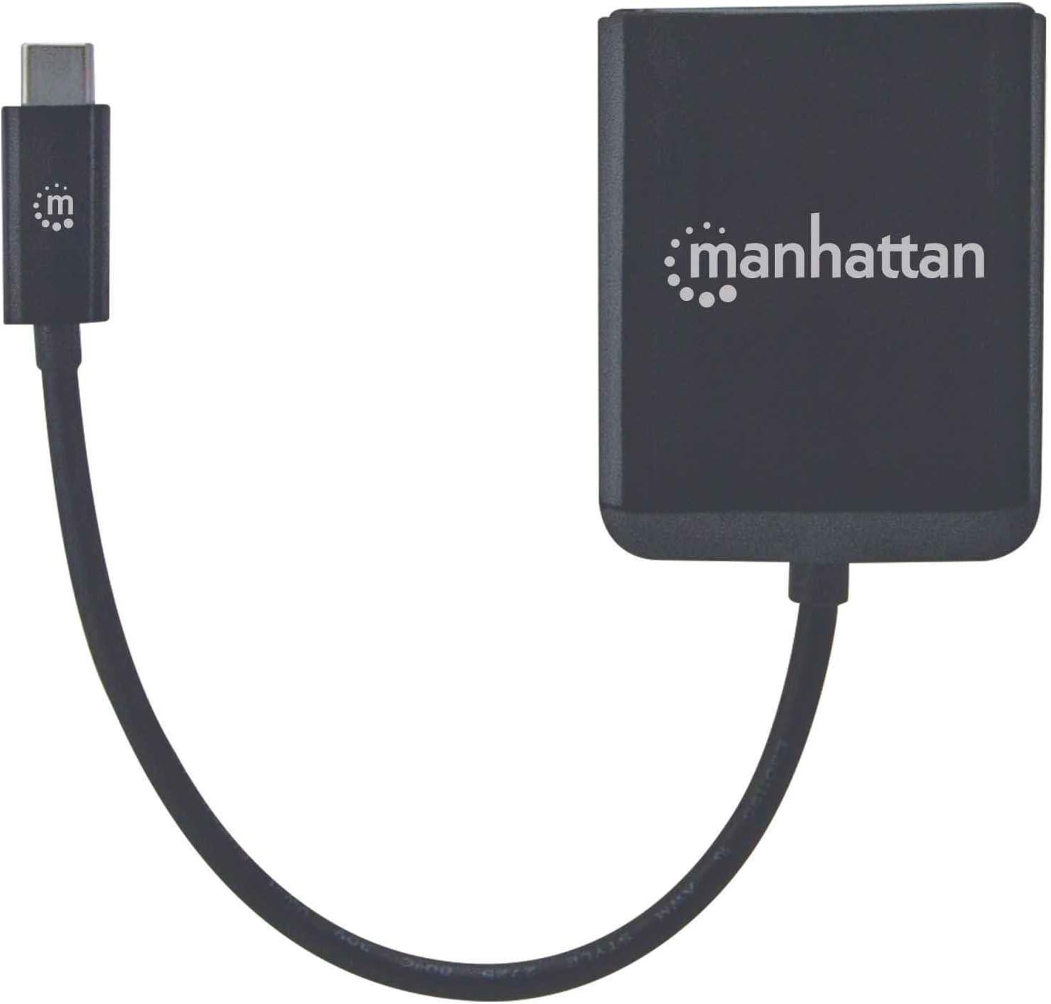 Manhattan USB-C to 2.5GBASE-T Gigabit 10//100//1000 Mbps and 2.5 Gbps Black RJ45 Network Adapter Multi-Gigabit Ethernet
