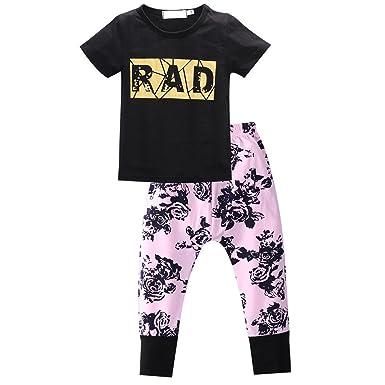 1f54a6719 Imported 2pcs Newborn Baby Kids RAD Printed Clothes T-shirt Top+Pant ...