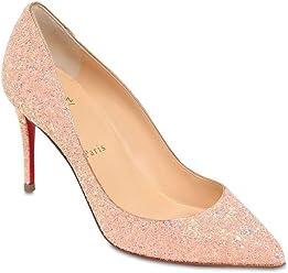 Christian Louboutin 85MM Pigalle Follies Glittered Pink Pumps Bran New