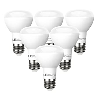 LE 6 Pack BR20 LED Light Bulbs Dimmable 45W Incandescent Bulbs Equivalent 8W  sc 1 st  Amazon.com & LE 6 Pack BR20 LED Light Bulbs Dimmable 45W Incandescent Bulbs ... azcodes.com
