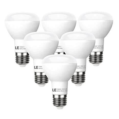 Le 6 pack br20 led light bulbs dimmable 45w incandescent bulbs le 6 pack br20 led light bulbs dimmable 45w incandescent bulbs equivalent 8w audiocablefo