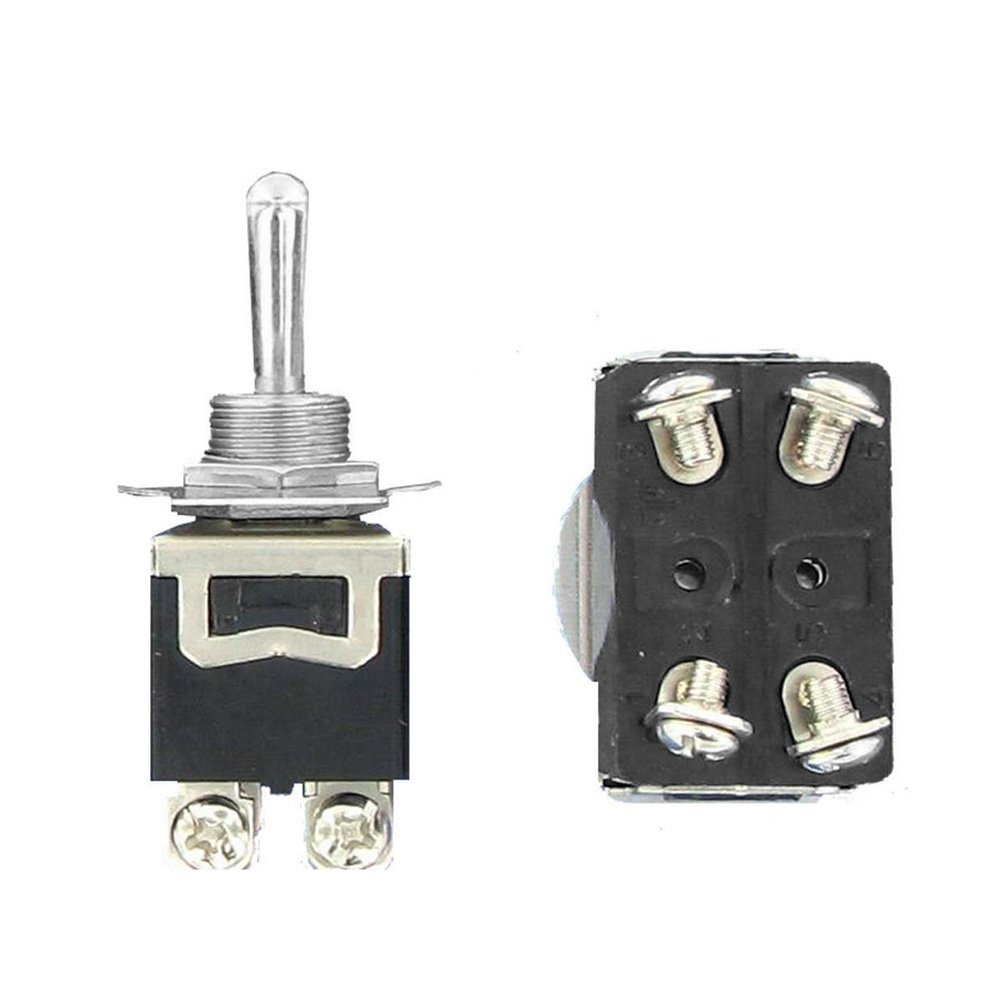 Mintice/™ 3 X Heavy Duty 20A 125V 15A 250V SPDT 3 Terminal Pin ON ON //OFF// Momentary Rocker Toggle Switch Metal