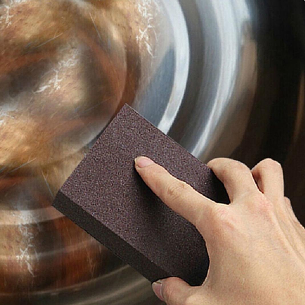 Heavy Duty Scrub Sponge Household Kitchen Magic Dirt Stains Cleaning Brush Scrubbing Dish Sponges (1#Bronze) Brussels08 TRTAZ11A