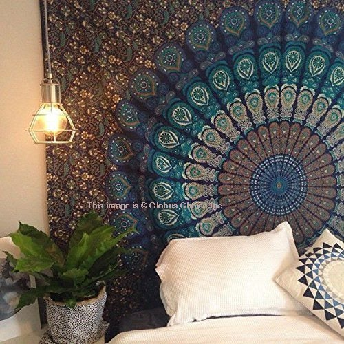 Third Eye Export Decorative Bedding Tapestry/Indian Mandala Tapestry/Hippie Wall Art/Bohemian Wall Hanging Décor/Gypsy Boho Bedspread for Bed Sheet, Coverlet Curtain, Beach Throw