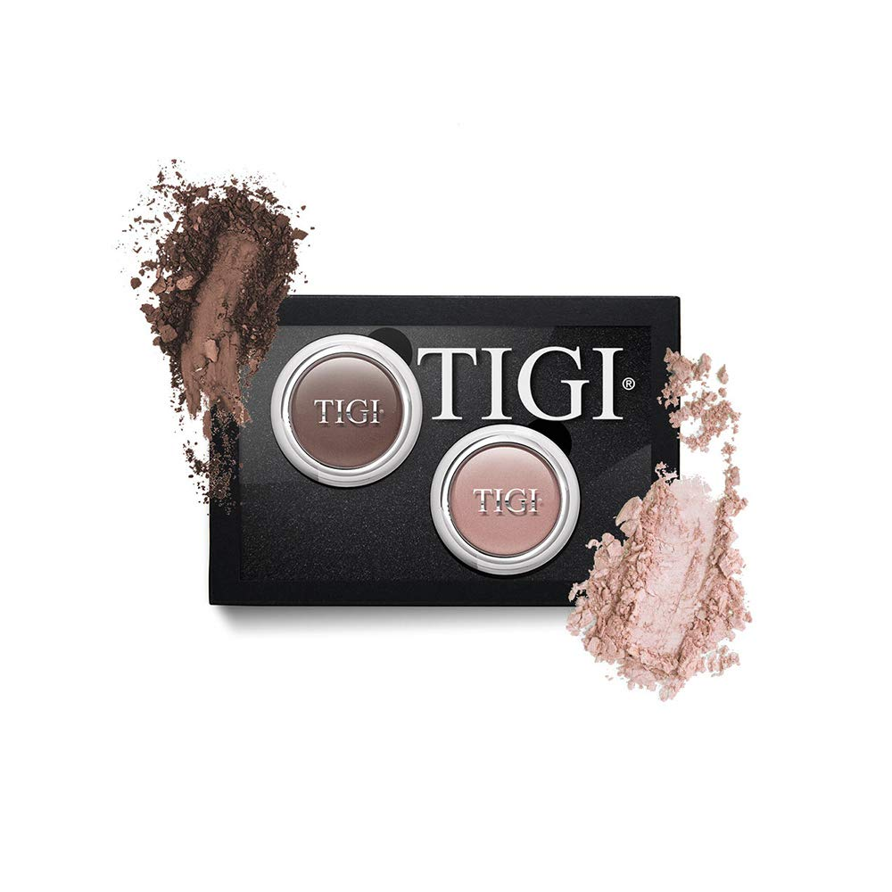 Tigi Cosmetics Single Eyeshadow 2 Piece Assortment, Choc/natural, 3.7 Ounce