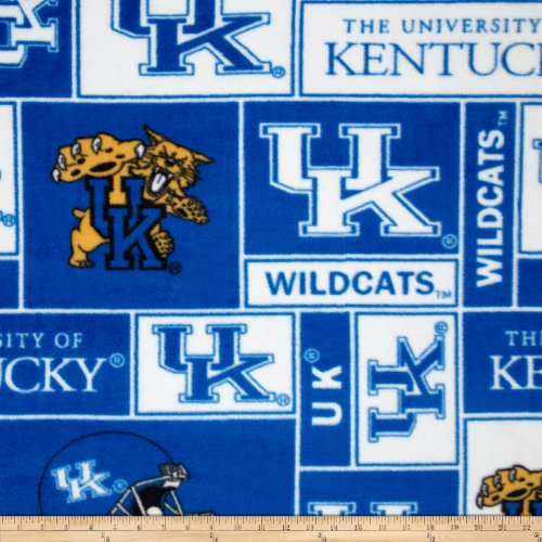 Collegiate Fleece University of Kentucky Fabric By The Yard (University Fleece)