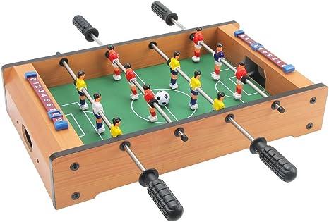 20 inch mini futbolín con patas, mesa de juego de mesa para niños de fútbol, para principiantes a jugadores de nivel intermedio, elegante y diseño contemporáneo, por ...