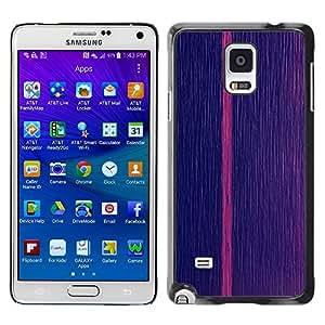 X-ray Impreso colorido protector duro espalda Funda piel de Shell para Samsung Galaxy Note 4 IV / SM-N910F / SM-N910K / SM-N910C / SM-N910W8 / SM-N910U / SM-N910G - Pink Vertical Line Stripe Minimalist