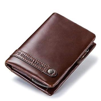 Cartera Hombre de Cuero, Billetera Elegante para Las Ocasiones Especiales, Proteccion RFID, 9