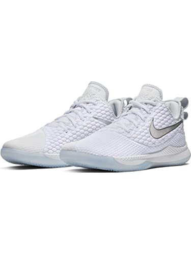 best loved adfd8 0ad42 Nike Men s Lebron Witness III Basketball Shoe White Chrome Pure Platinum Wolf  Grey