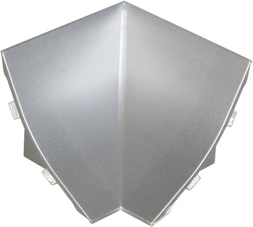 HOLZBRINK Jonction pour Plinthe de Comptoir de Cuisine Aluminium Satin/é 23x23 mm Bande de Finition PVC Comptoir de Cuisine