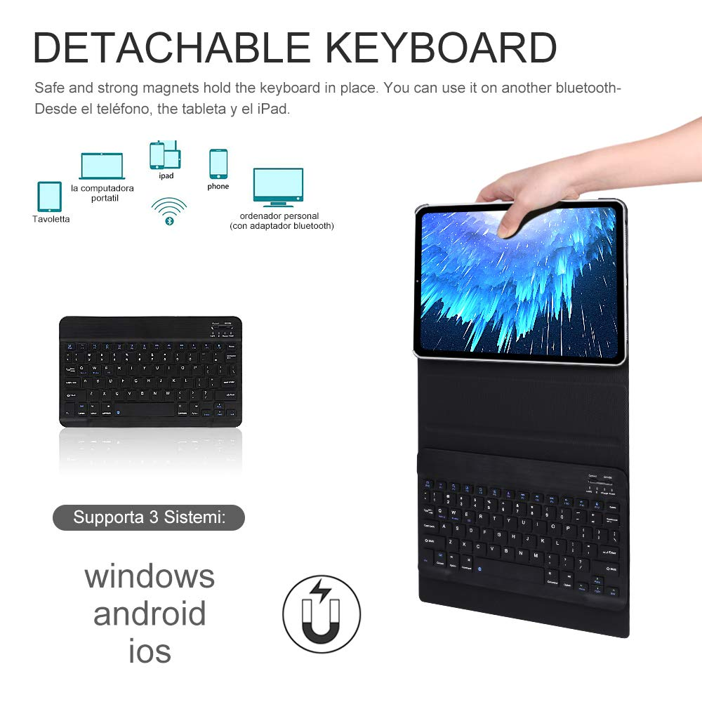 Amazon.com: OYOSUOGG Keyboard Case for iPad Pro 11 Inch 2018 - Lightweight - Auto Sleep/Wake - Slim Folio Smart Cover - Apple iPad Pro 11 2018 Leather Case ...