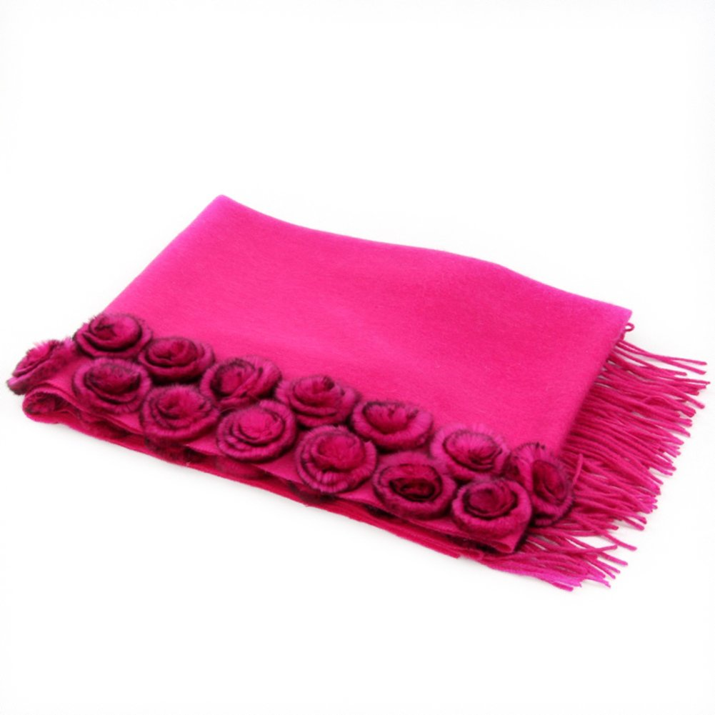 Scarf Shawl Ladies fall winter thick warm long scarf in the dual-use-C One Size
