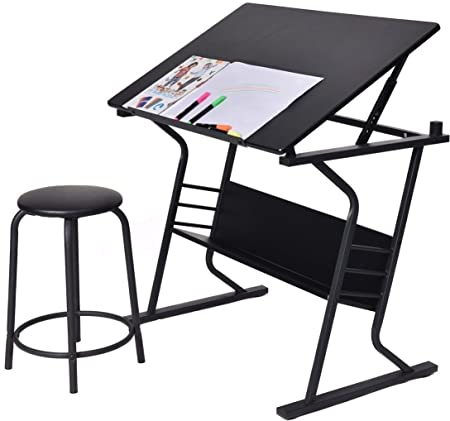 Display4top Large Size Tiltable Tabletop Drawing Board Table Art Craft  Drafting Easel Desk