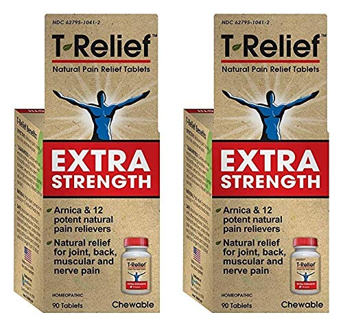 MediNatura Naturals T-Relief Extra Strength Tablets (Pack of 2), 90 Tablets ()