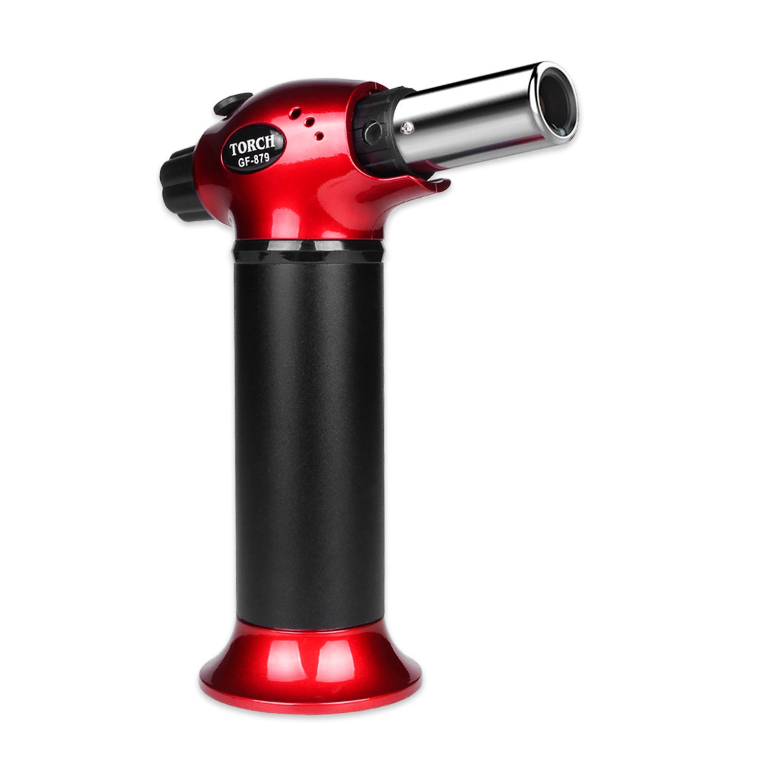 Blow Torch, Refillable Cooking Kitchen Butane Torch Lighter With Safety Lock & Adjustable Flame Perfect for Pastries, Desserts, Brazing, Soldering, Welding, Melting, Heating, Peeling & More by Semdisan (Image #1)