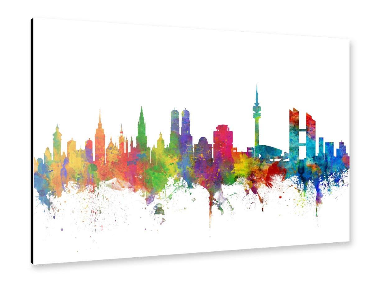 artboxONE Alu-Print 120x80 cm München Germany Skyline von Künstler Michael Tompsett