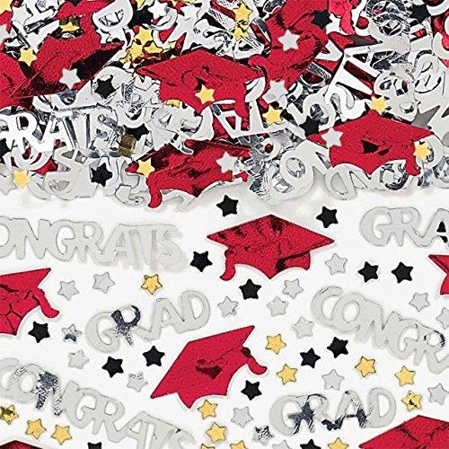 Discount Amscan Red Graduation Confetti Mix 2.5oz. per pack hot sale