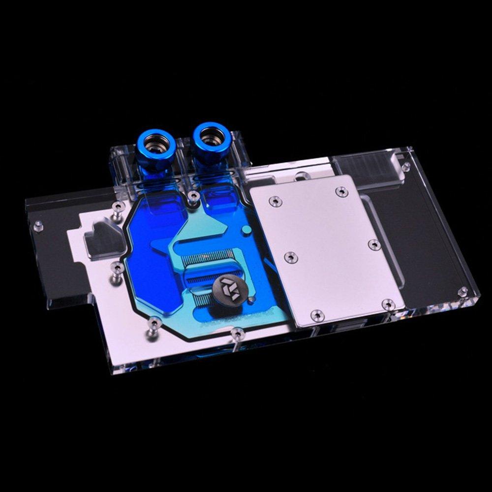 B BYKSKI RGB LED VGA GPU Water Cooling Block for A-SP58PLAT-X Sapphire RX580