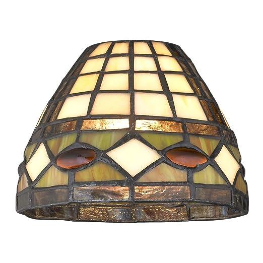 Amazon.com: Dome Tiffany vidrio sombra – 1 – 5/8-inch Fitter ...