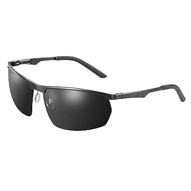 NEXGADGET Gafas de Sol Protección UV400, al Aire Libre para Hombres Mujeres, para Ciclismo Corriendo Pescando Esquí Acuático Vasos de Béisbol (Bolsa y Funda ...