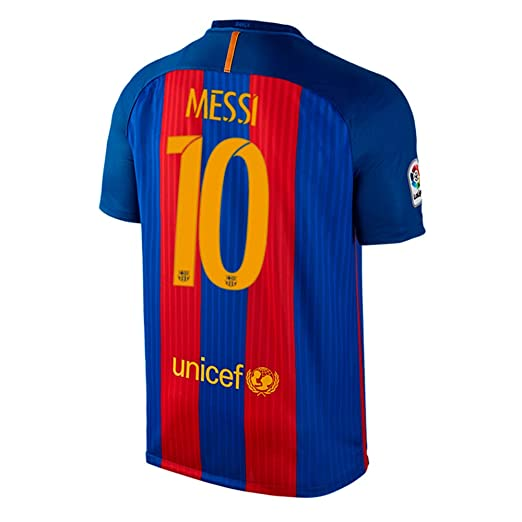 Amazon.com   NIKE Messi  10 FC Barcelona Home Men s Soccer Jersey ... 893fb0cf1