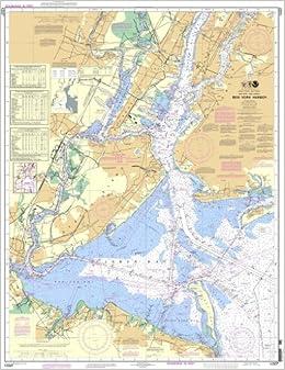 Map Of New York Harbour.Noaa Chart 12327 New York Harbor 0852675838415 Amazon Com