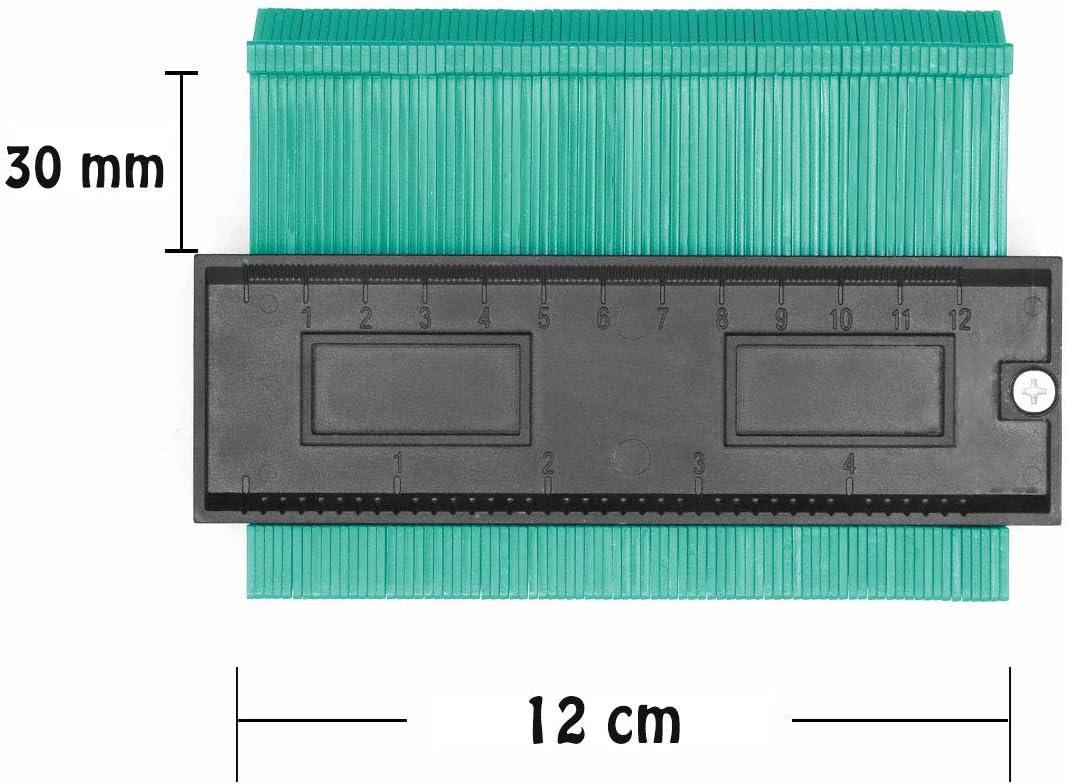 Copieur de Contour Jauge de Contour de 254mm avec ruban /à mesurer Copiez avec pr/écision les formes irr/éguli/ères pour un ajustement parfait et un outil de marquage du bois stratifi/é