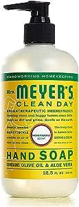 Mrs. Meyer's Clean Day Jabón Líquido para Manos Floral Frutal (Honeysuckle), 370 ml