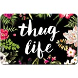 "ZBLX Thug Life Flowers Doormat Entrance Mat Floor Mat Rug Indoor/Bathroom Mats Rubber Non Slip (23.6""x15.7"",L x W)…"