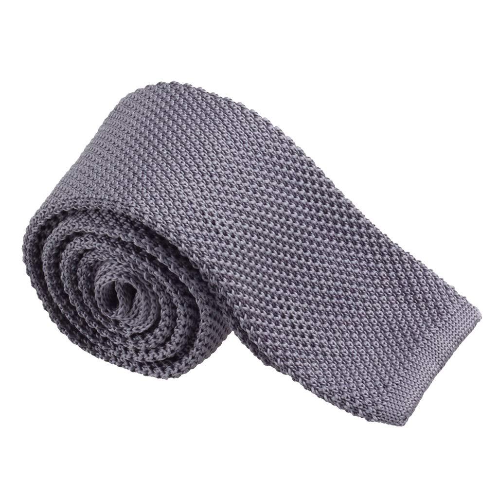 B Baosity Corbata Tejida de Punto Estrecha Cuadrada Color S/ólida Casual para Traje Formal