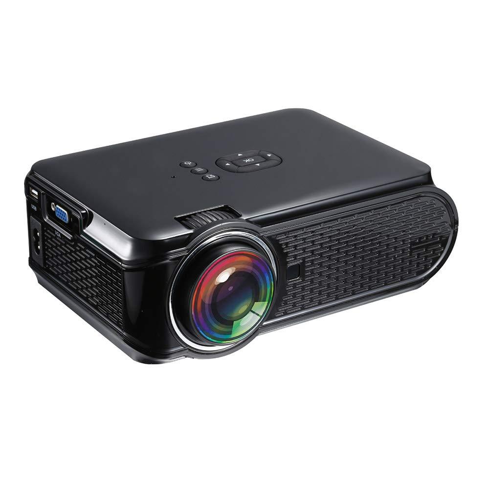 ミニプロジェクター、iPhone/Ipad/TVの棒/ラップトップPC / Smartphoneと互換性があるホームシネマのための1500の内腔1080 Pビデオプロジェクター,Black B07QRG1ZXR  Black