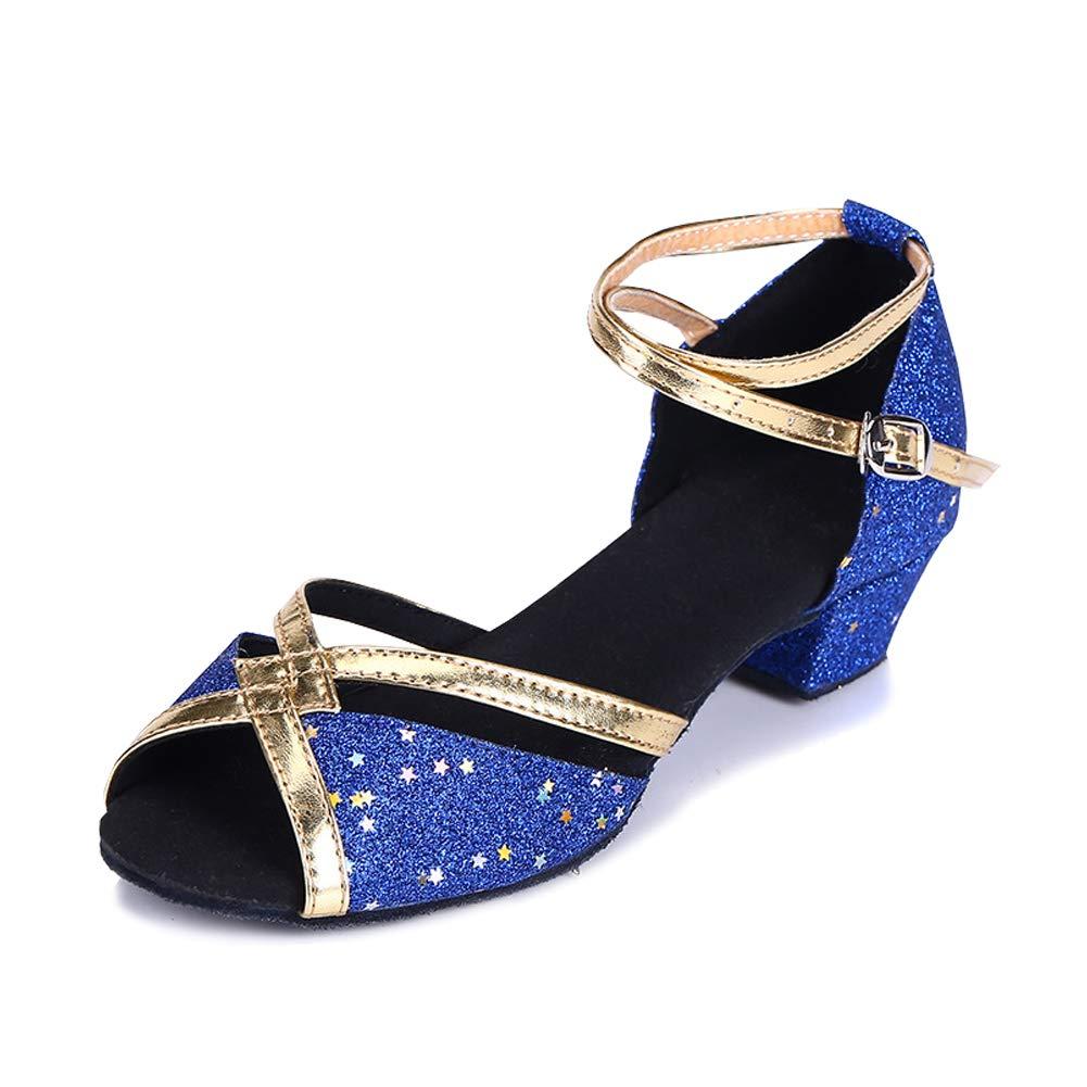 YFCH Femme Chaussures de Danse Latine Talon Haut 3.5cm Chaussures Sandales de Danse Tango F/ête Sociale Salsa