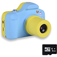 PANNOVO YT001 Mini 1.5 Inch Screen Children Kids Digital Camera with 8GB Cards(Blue)