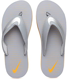 f4bb282b0 Nike Men's Chroma Thong 5 Grey Stealth/Chrome-Vivid Orange Flip Flops  (833808