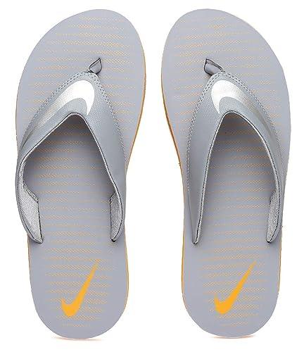 30a2fb97ef60 Nike Men s Chroma Thong 5 Grey Stealth Chrome-Vivid Orange Flip Flops  (833808