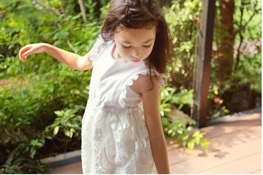 Bow Dream Flower Girl's Dress Vintage Lace Off White 10 by Bow Dream (Image #5)