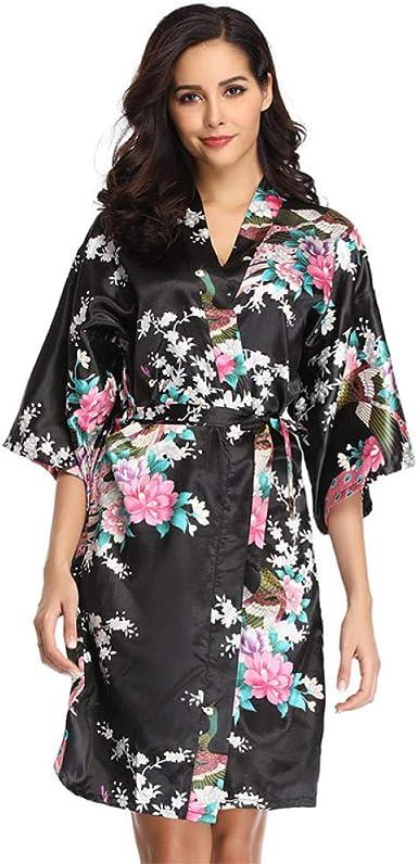 Camisón Pijamas de Gran tamaño para Mujer Batas Estampadas ...