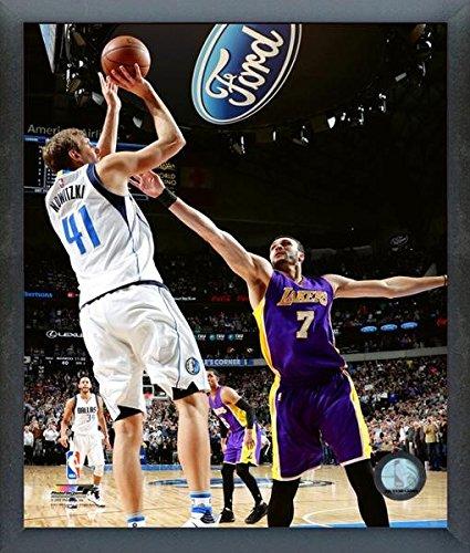 Dirk Nowitzki Dallas Mavericks 30,000th NBA Point Action Photo (Size: 12'' x 15'') Framed by NBA