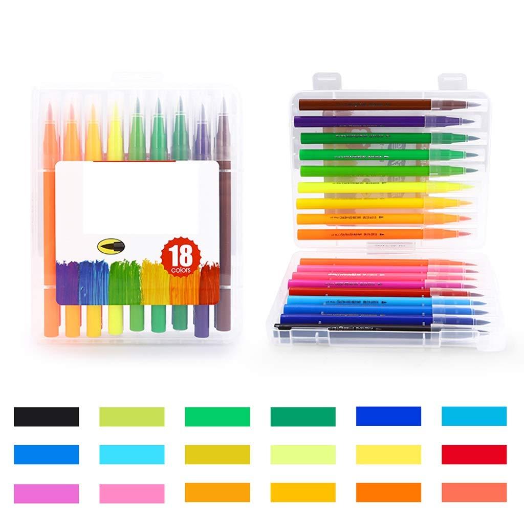 Kaiyu Conjunto de Plumas de Agua Pintura Portátil Pintura Agua Pen Sketch Art Puede Lavar Pincel de Pintura Escuela Primaria Acuarela Pen (Size : 4) 5ab384