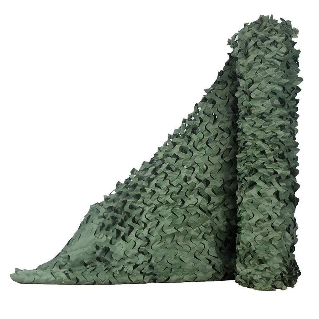 迷彩ネットジャングルカバーネットキャンプ隠す車のカバースイミングプール釣り日焼け止めメッシュ迷彩ネット狩猟軍事軍隊日よけ遮光ネット緑 ZHAOFENGMING (Color : 緑, Size : 5x5M) 緑 5x5M
